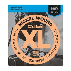 D'addario D'addario EXL115W Nickel Wound, Medium/Blues-Jazz Rock, Wound 3rd, 11-49