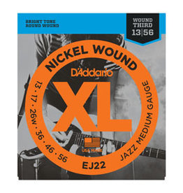 D'addario D'addario EJ22 Nickel Wound, Jazz Medium, 13-56