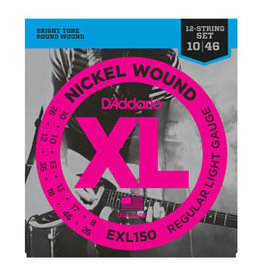 D'addario D'addario EXL150 Nickel Wound, 12-String, Regular Light, 10-46