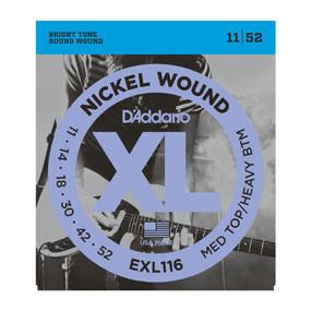 D'addario Daddario EXL116 11-52 Nickel Wound Med Top/Heavy Bottom