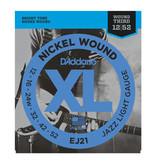 D'addario Daddario EJ21 12-52 Nickel Wound Jazz Light