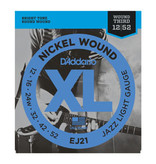 D'addario D'addario EJ21 Nickel Wound, Jazz Light, 12-52