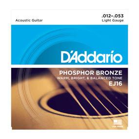 D'addario Daddario EJ16 12-53 Phosphor Bronze Light