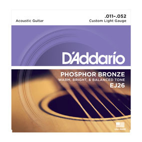 D'addario D'addario EJ26 Phosphor Bronze, Custom Light, 11-52