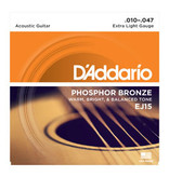 D'addario D'addario EJ15 Phosphor Bronze, Extra Light, 10-47
