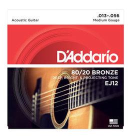 D'addario Daddario EJ12 13-56 80/20 Bronze