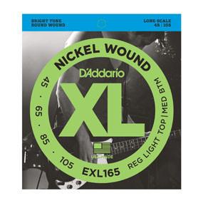 D'addario D'addario EXL165 Nickel Wound Bass, Custom Light, 45-105, Long Scale