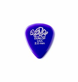Dunlop Delrin 500 Standard Pick dark purple 2.00 mm