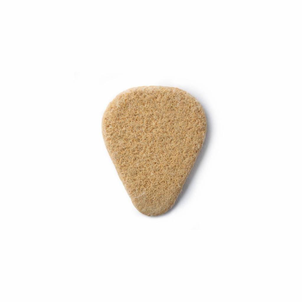 Dunlop Felt Picks - Nick Lucas Shape light brown 3.20 mm