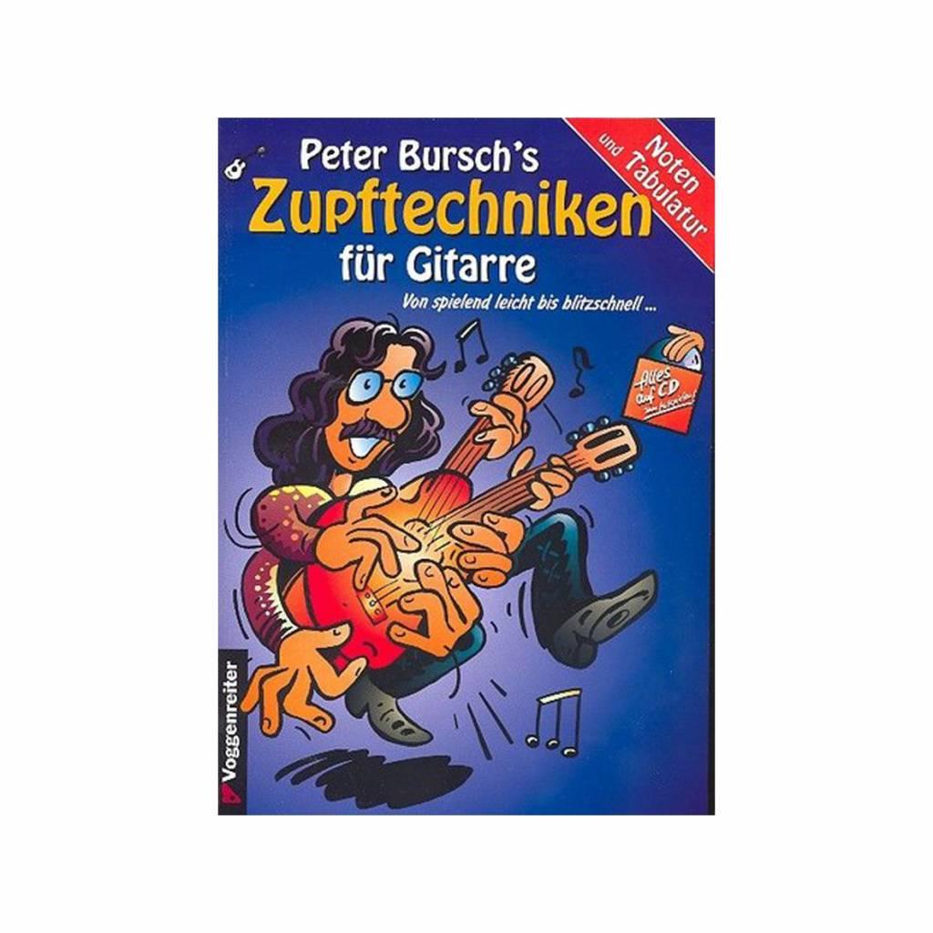 Voggenreiter Voggenreiter Peter Bursch's Zupftechniken für Gitarre (+CD)