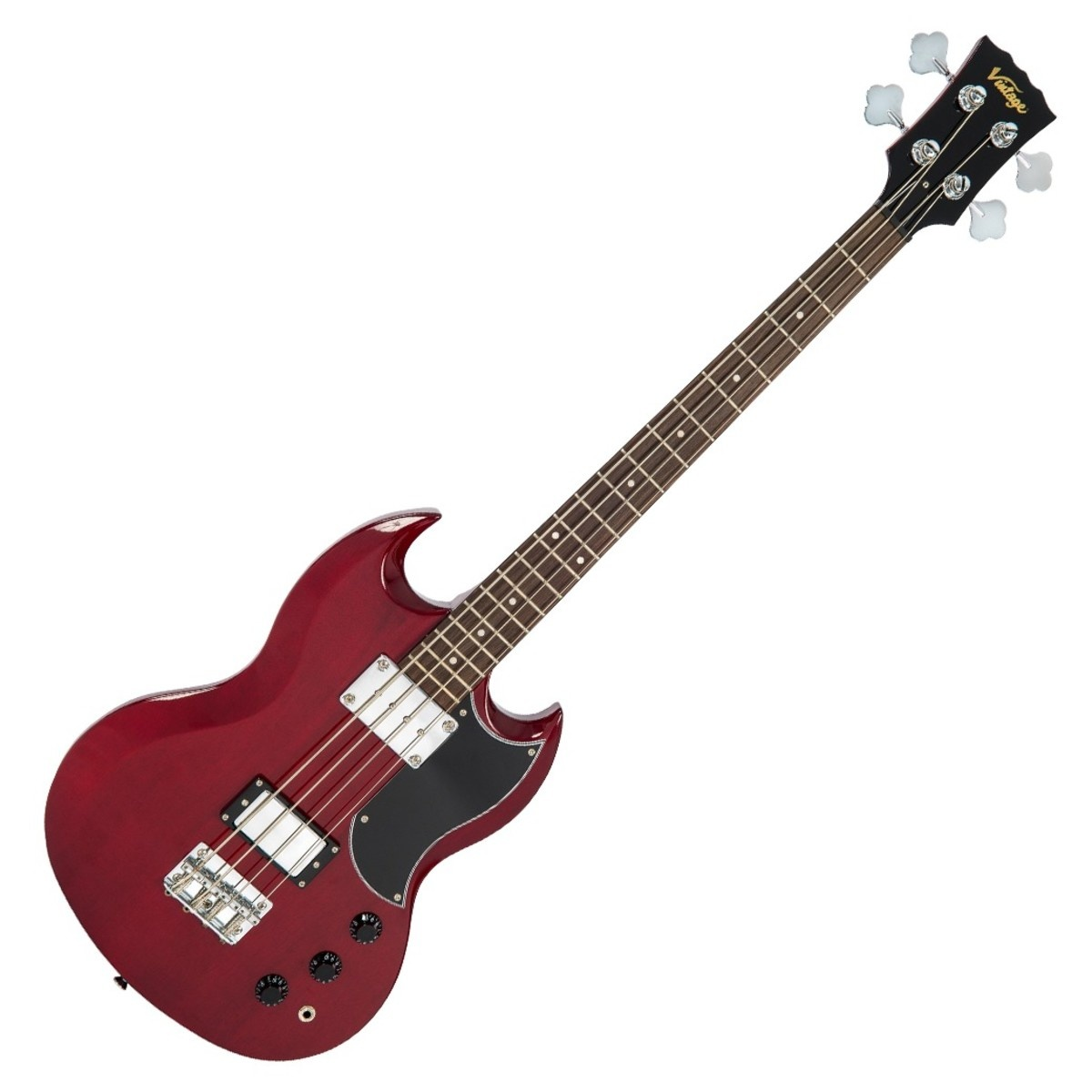 Vintage Vintage VS4 CR Reissued Bass Cherry Red