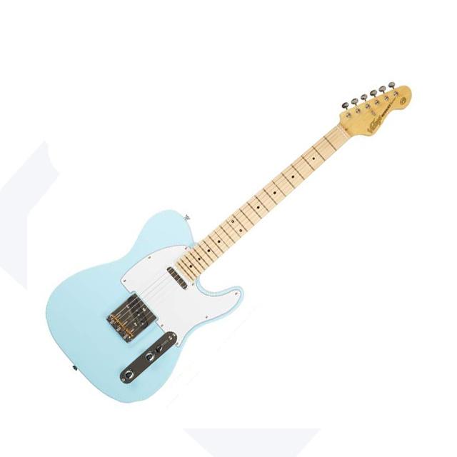 Vintage Gitarre Vintage V75LB - Light Blue