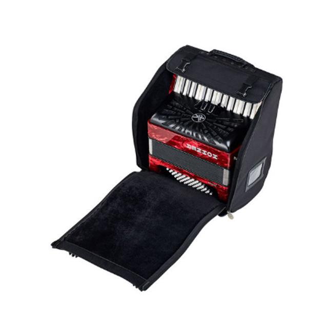 Hohner Hohner Bravo III 72 Red silent key
