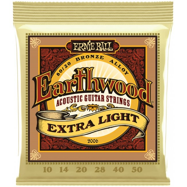 Ernie Ball Ernie Ball - Earthwood - Extra Light - 2006 - 80/20 Bronze - 10-50