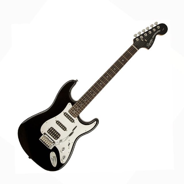 SQUIER Fender Squier Black and Chrome Standard Stratocaster IL HSS