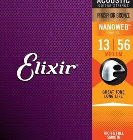 Elixir Elixir - 13-56 - Nanoweb Medium - 16102 - Phosphor Bronze