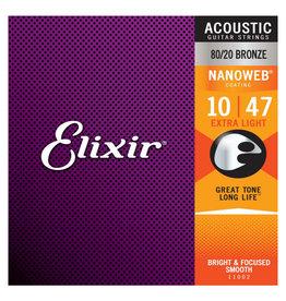 Elixir Elixir - 10-47 - Nanoweb Extra Light - 11002 - 80/20 Bronze