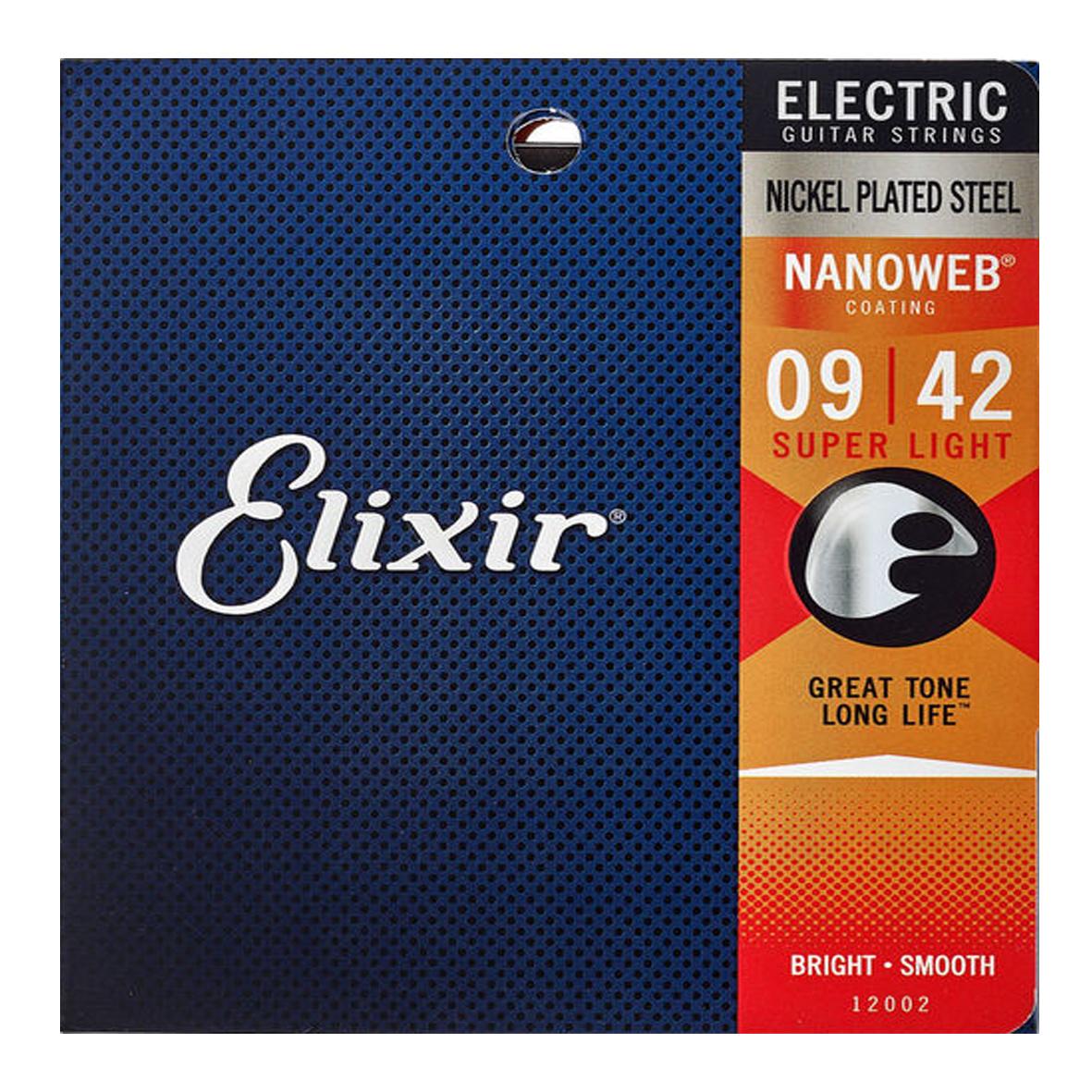 Elixir Elixir - 09-42 - Nanoweb Super Light - 12002 - Nickel Plated Steel