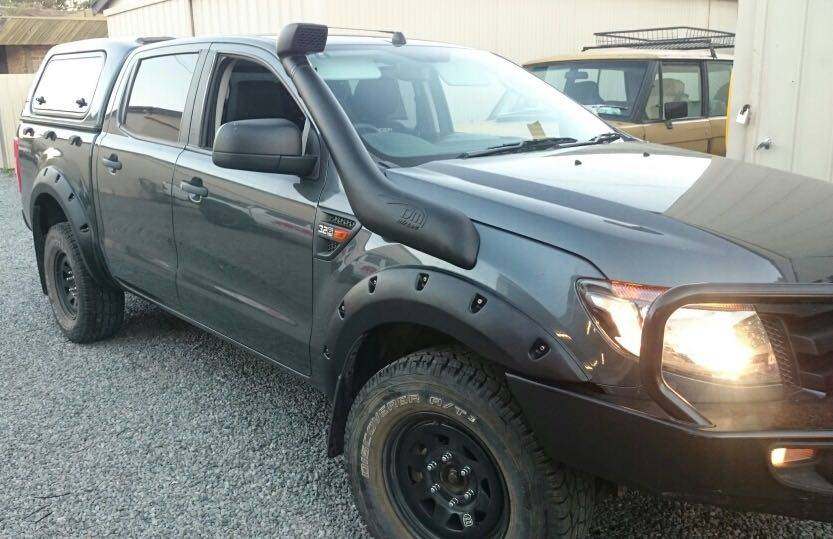 Ford Spatbordverbreders voor Ford Ranger PX1, PX2 and PX3 Raptor/Wildtrak - 55 mm breed