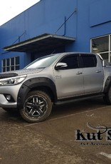 Toyota Fender Flares for Toyota Hi-Lux (Revo) - 2015 till 2019 - 75mm wide, fits both wide and narrow body