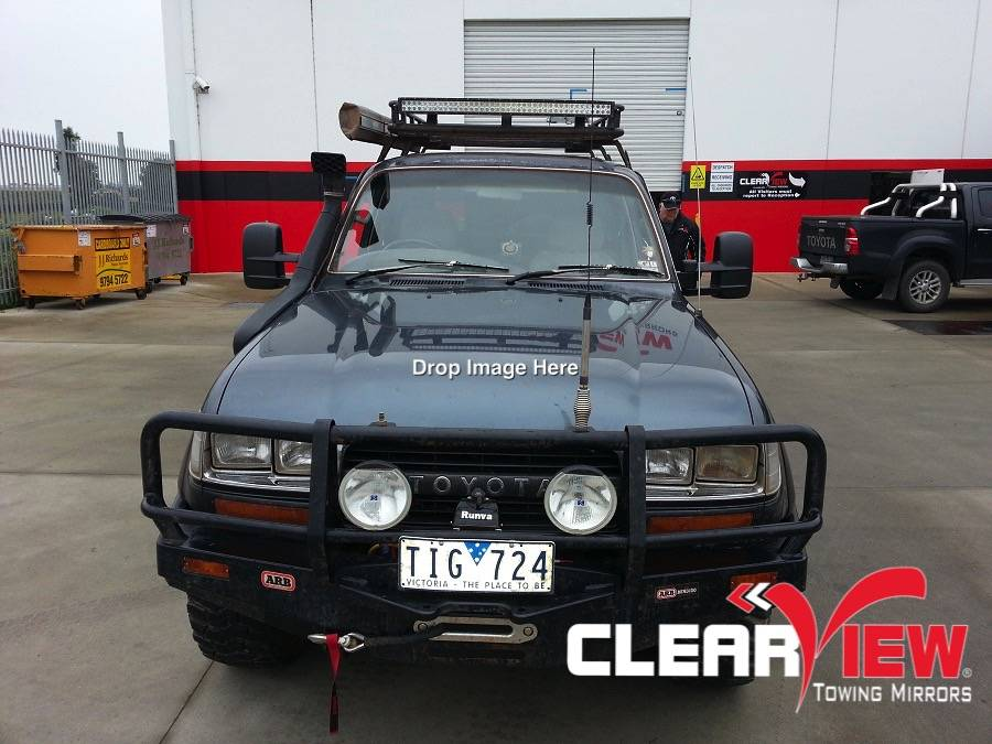 Toyota Clearview rétroviseurs Toyota Land Cruiser 80 serie