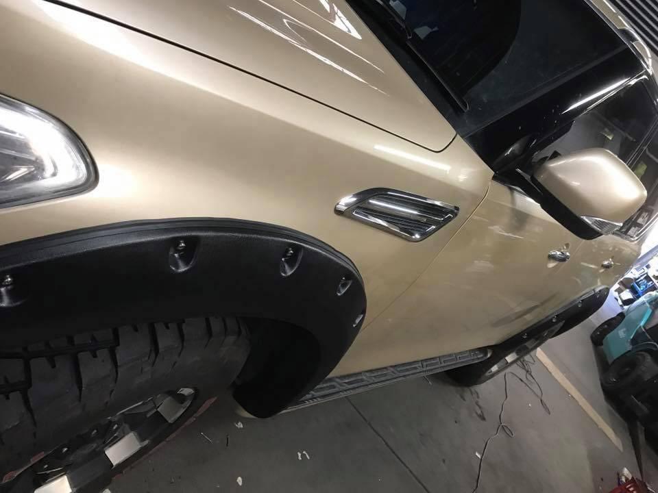 Nissan élargisseurs d'ailes pour Nissan Patrol Y62 - 70 mm large