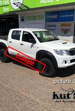 Toyota Spatbordverbrders voor Toyota HiLux  2005-2012 standaard (pre face-lift)- 50 mm breed