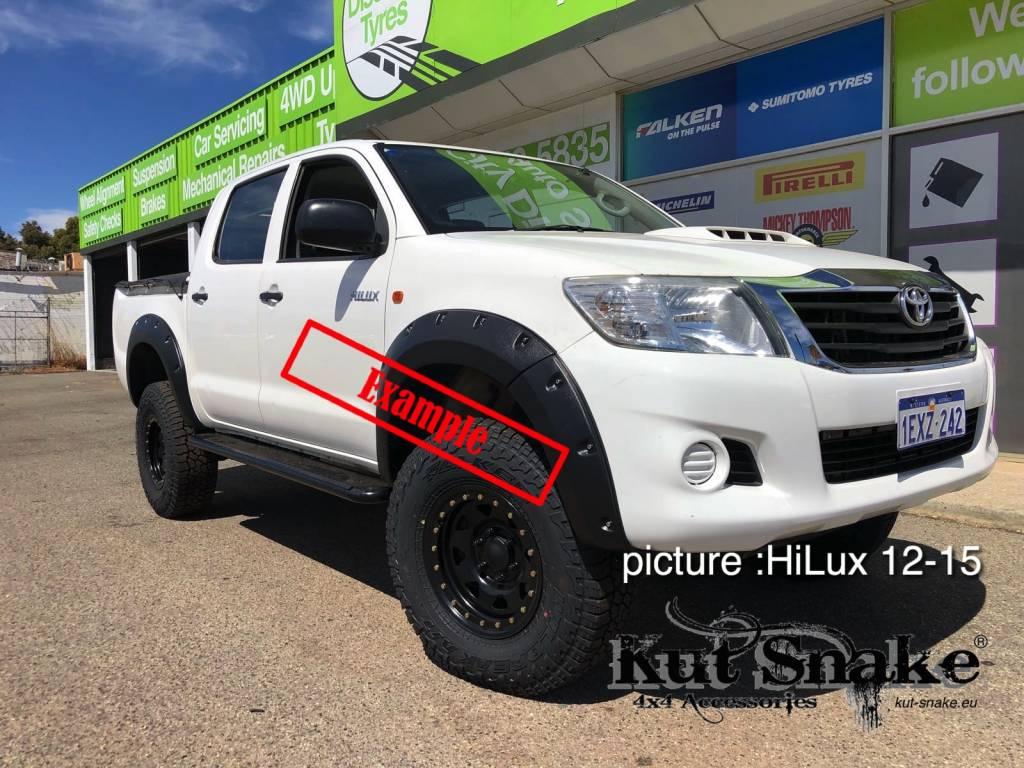 Toyota Kotflügelverbreiterung Toyota HiLux 2005-2012 standard (vor face-lift) - 50mm breit
