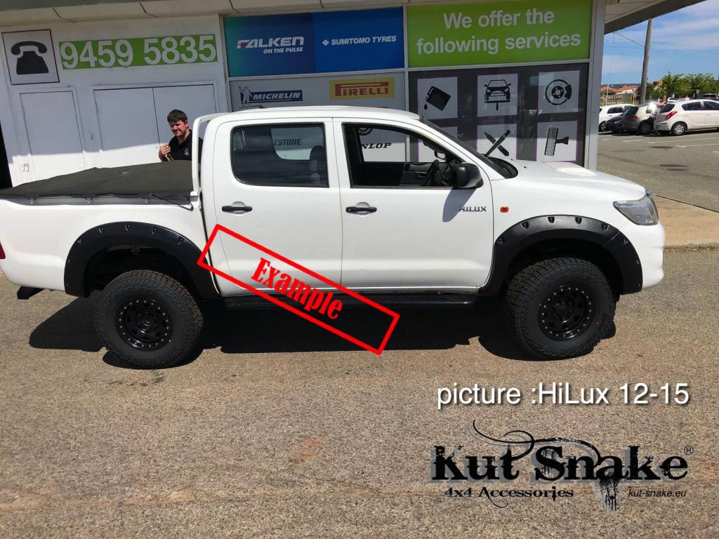 Toyota Fender Flares for Toyota HiLux 2005-2012 standard (pre face-lift)   - 50 mm wide