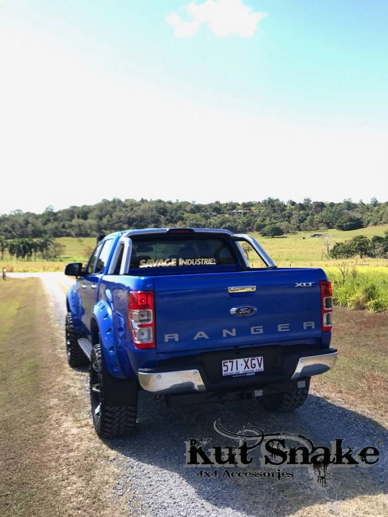 """Ford Kotflügelverbreiterung Ford Ranger PX1, 2 ind 3  """"Monster"""" - Glatte Oberfläche - 95 mm breid"""