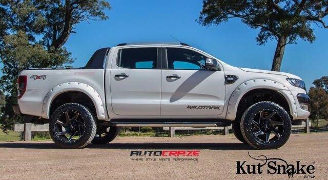 Ford Spatbordverbreders Ford Ranger PX - 95 mm breed - Gladde afwerking