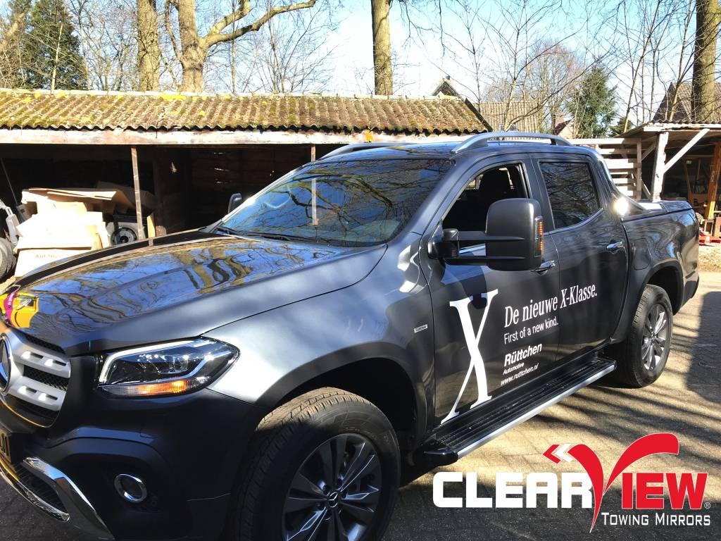 Mercedes Benz Clearview Towing Mirror Mercedes Benz X-klasse, elektrisch bedienbaar, verwarmd en knipperlichten
