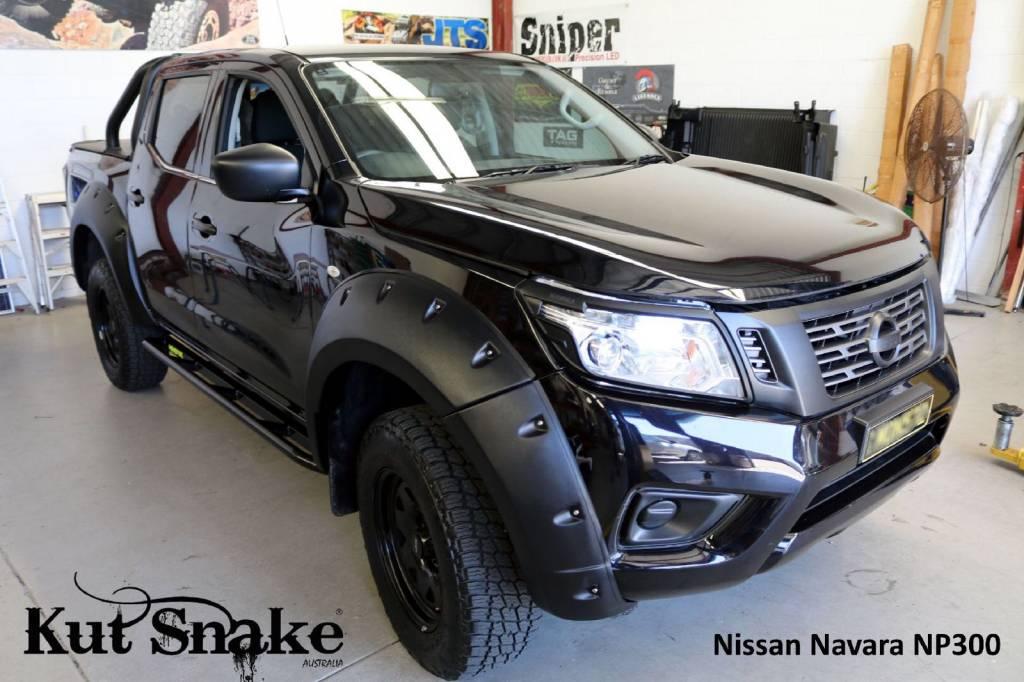 Nissan Spatbordverbreders Nissan Navara D23-standard - 68-78mm breed -AD-BLUE