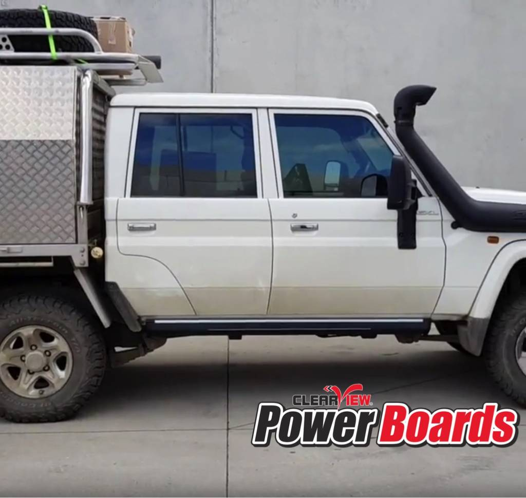 Toyota Electrically folding footboards