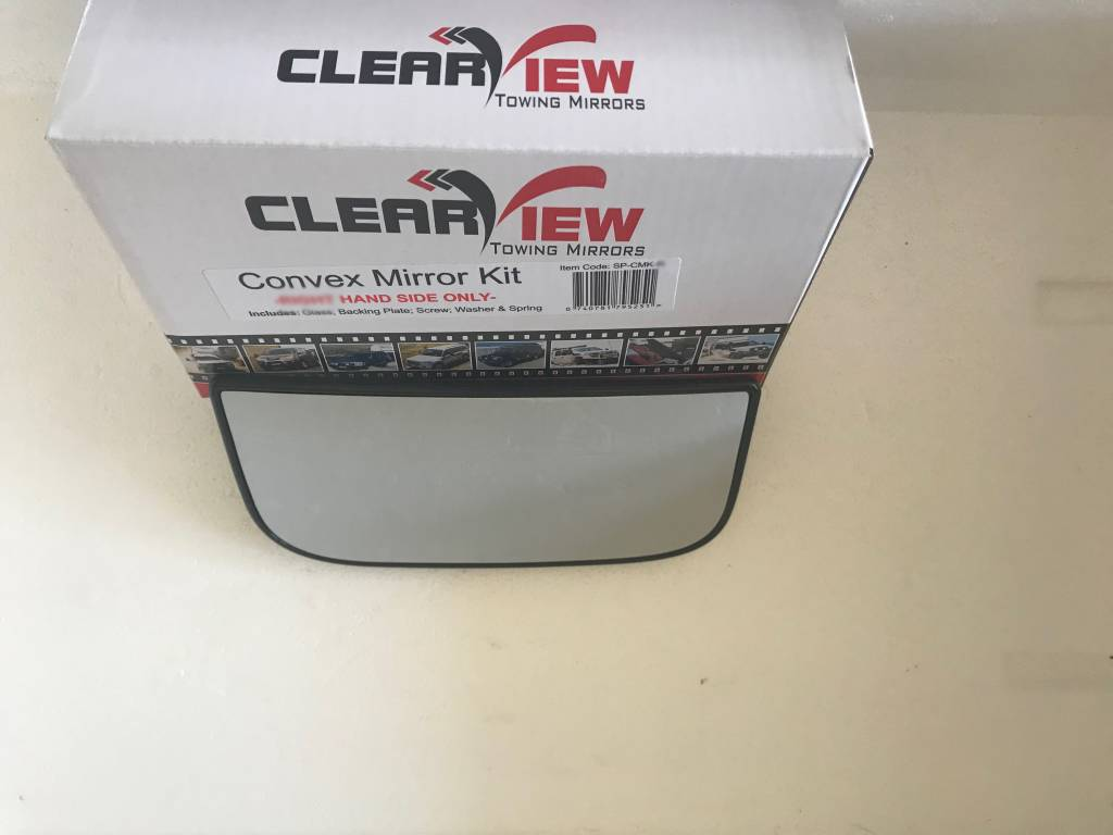 ClearView Convex Mirror Glass complete with base plate