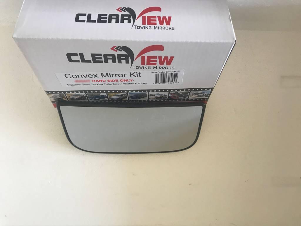 ClearView Konvexe Spiegel Glas komplett mit trägerplatte