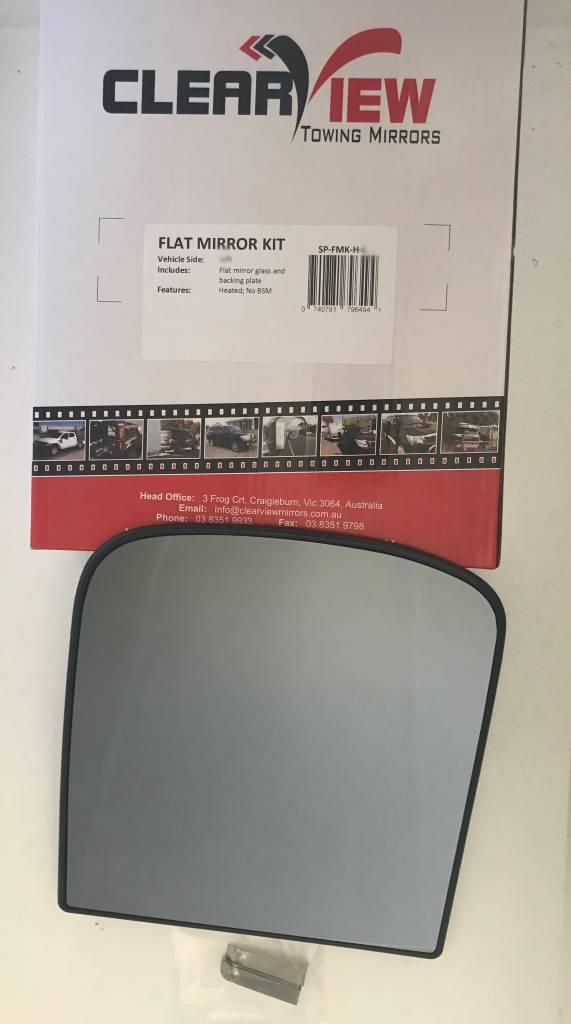 ClearView Spiegelglas komplett mit Trägerplatte