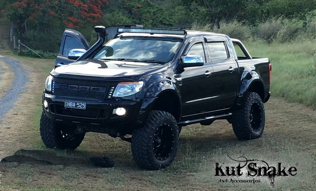 Ford Fender Flares Ford Ranger PX1, PX2 and PX3 - 95 mm wide - Smooth finish