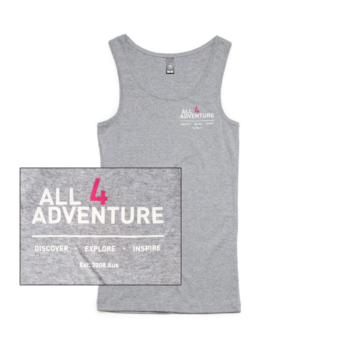 All4AdventureDiscover-Explore-Inspire Singlet (Ladies)