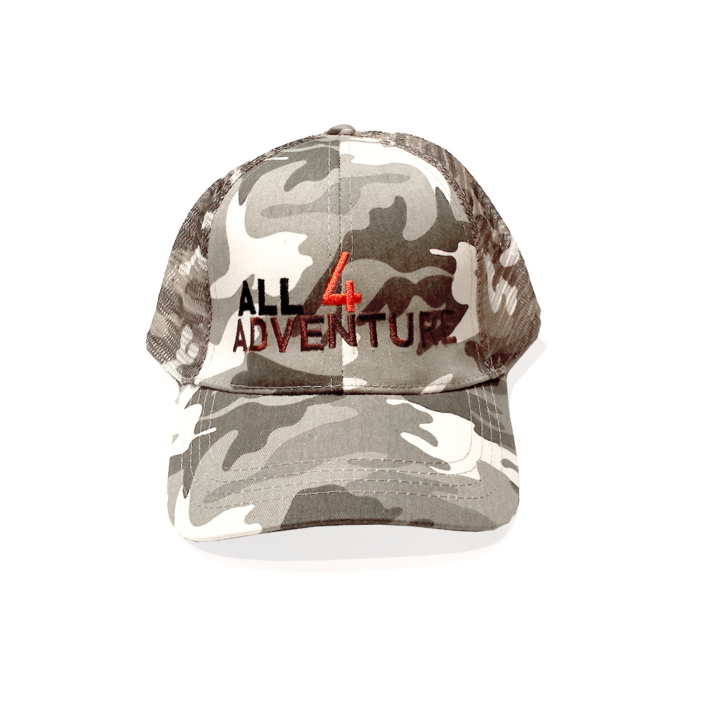 All4Adventure grijze camouflage cap