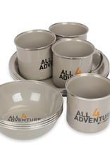 All4Adventure Email geschirr set (12 Stück)