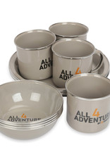 All4Adventure Enamel Dinner set ( 12 pcs )