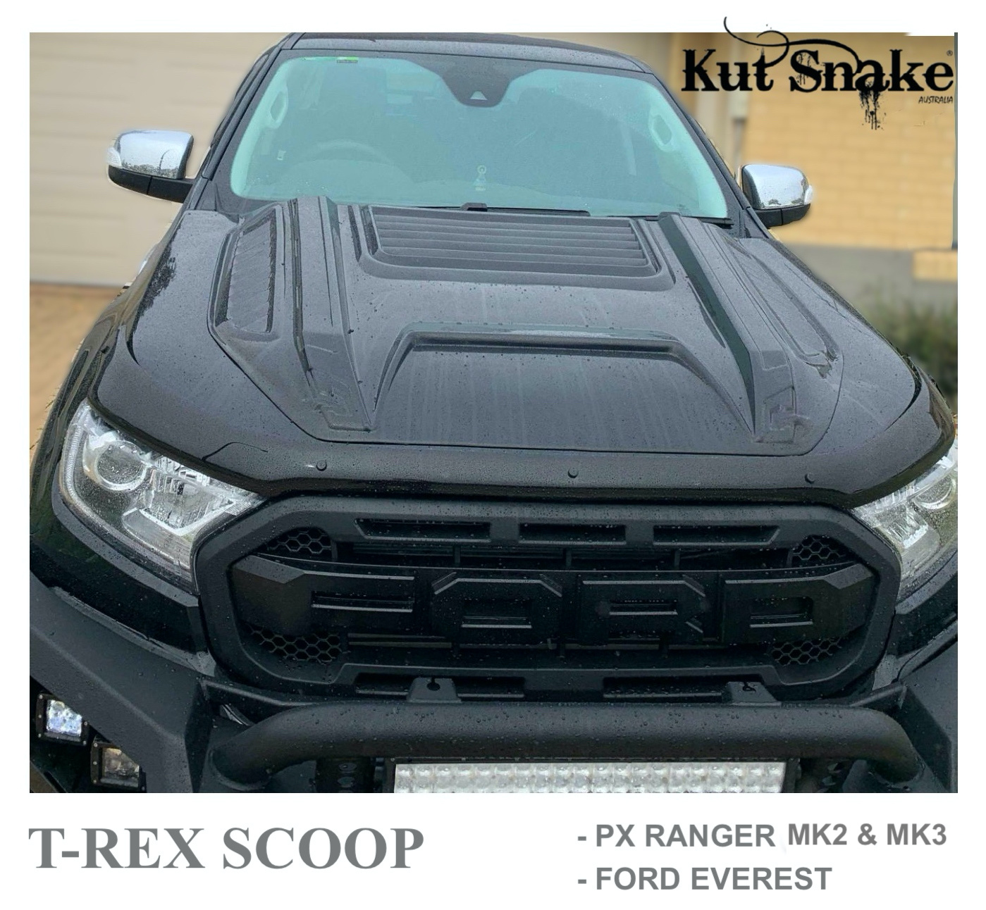 Ford Hood Scoop Ford Ranger T-REX - Smooth finish