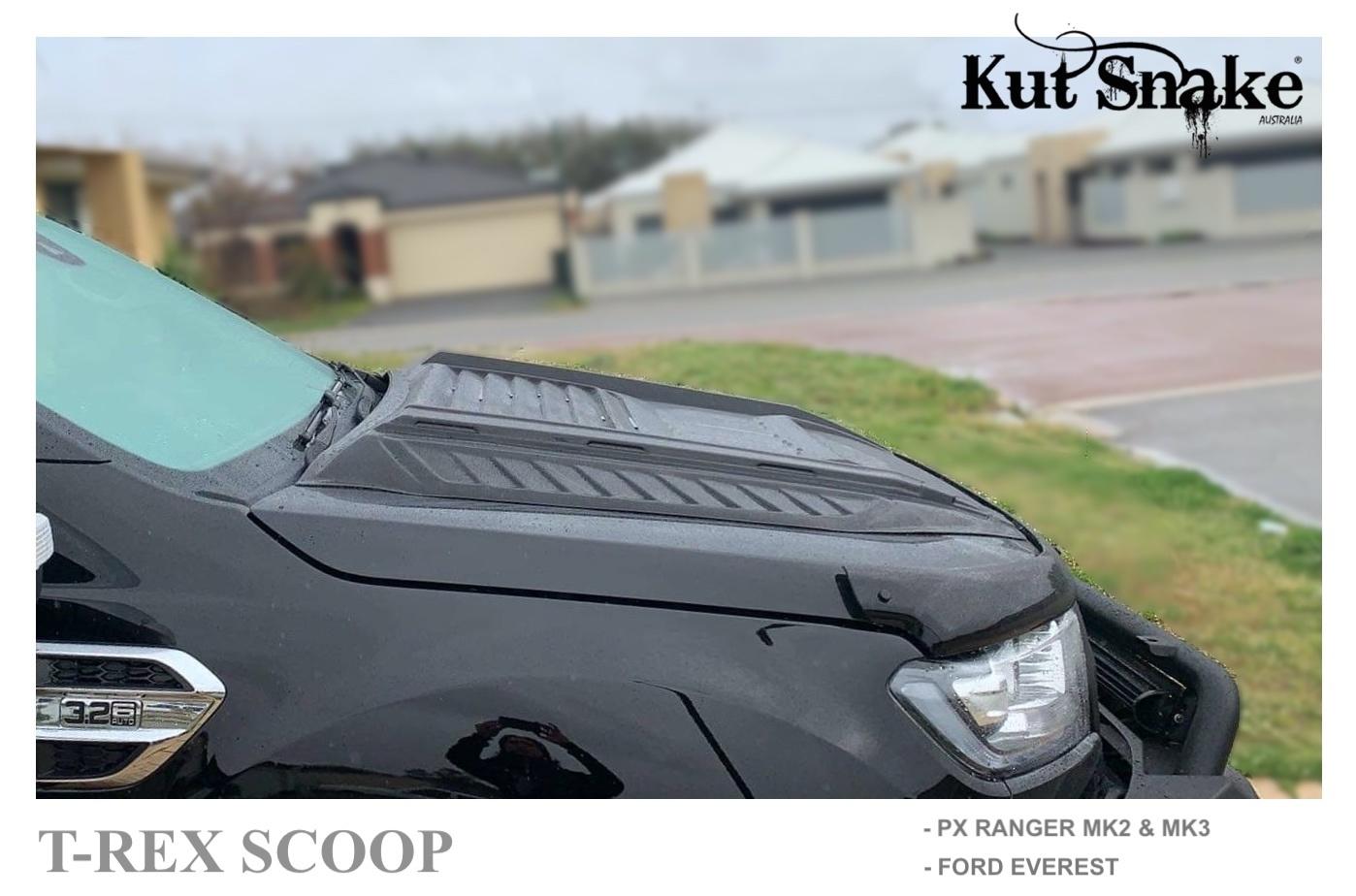 Ford Luchthapper Hood Scoop Ford Ranger T-REX - Gladde afwerking