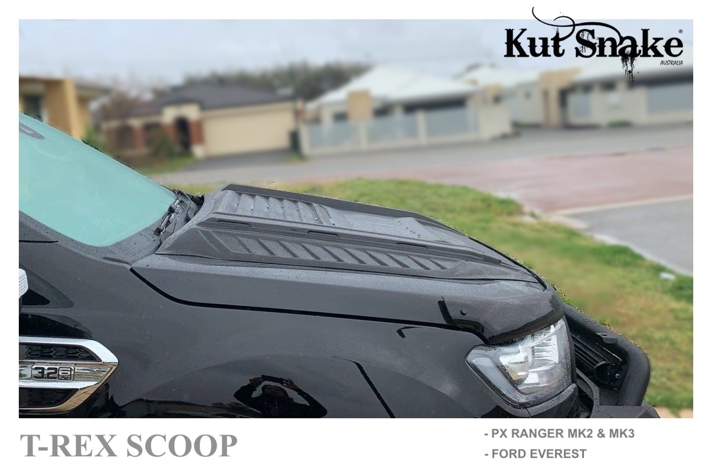 Ford Scoop Capot Ford Ranger T-REX - Finition lisse