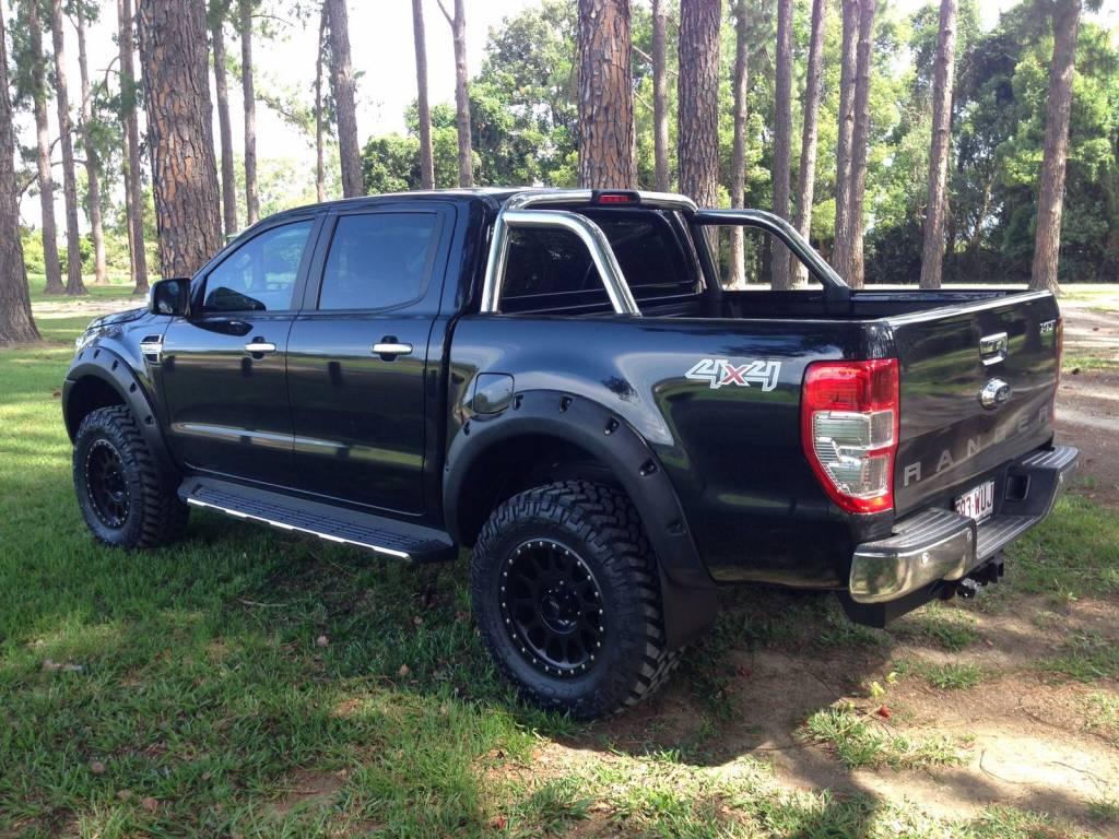 "Ford élargisseurs d'ailes Ford Ranger PX1, PX2 ét PX3 Raptor/Wildtrak ""Standard"" - 55 mm large"