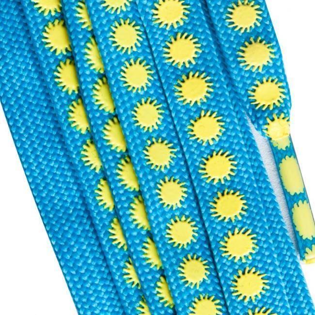 Sure Grip Sure Grip laces slip-not Sun blue yellow 180cm