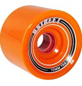 D-Street D-Street wheels fly orange 72mm 78A 4pk
