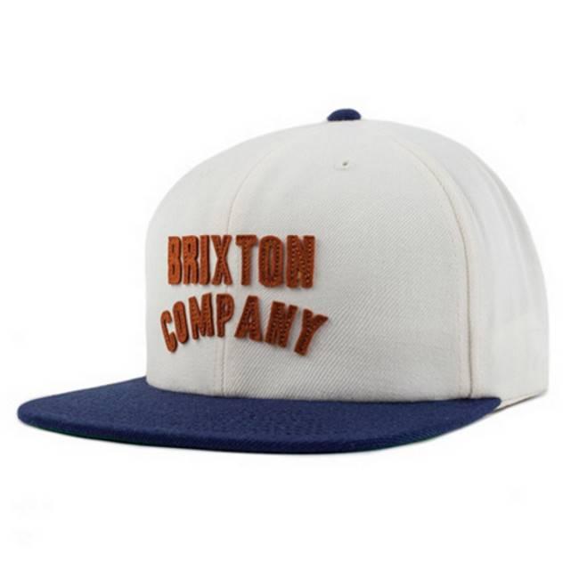 Brixton Brixton cap Woodburn snapback Off White navy OS