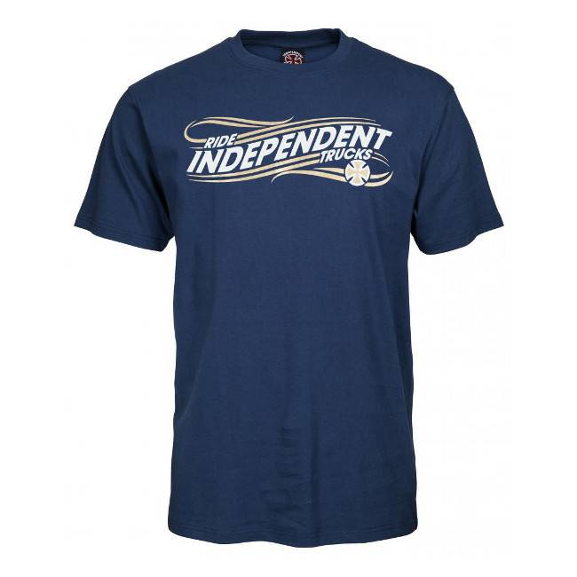 Independent Independent T Shirt Whip Navy M ADULT